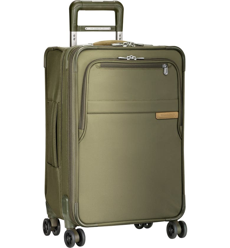 BRIGGS & RILEY Baseline Domestic 22-Inch Expandable Rolling Carry-On, Main, color, OLIVE