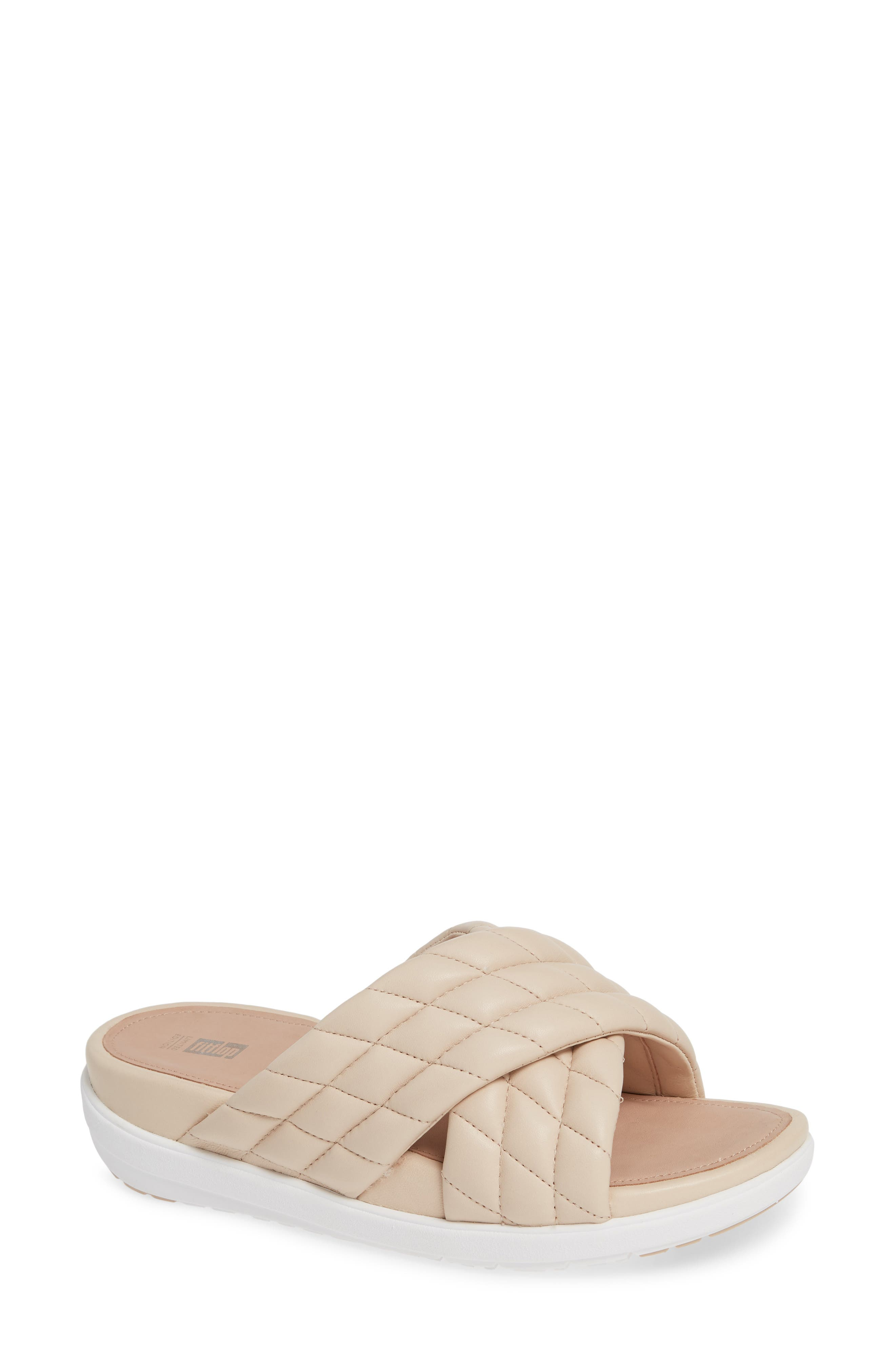 Fitflop Loosh Luxe Slide Sandal, Beige