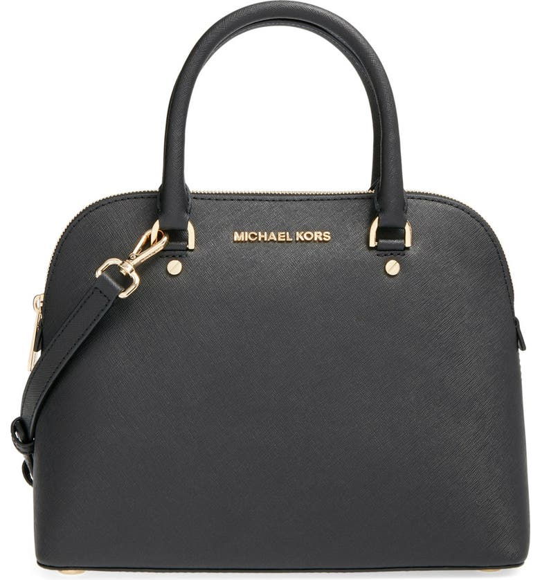 MICHAEL MICHAEL KORS 'Medium Cindy' Dome Satchel, Main, color, 001