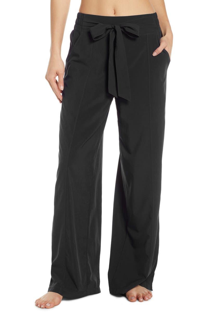 ZELLA Breeze By Wide Leg Pants, Main, color, BLACK