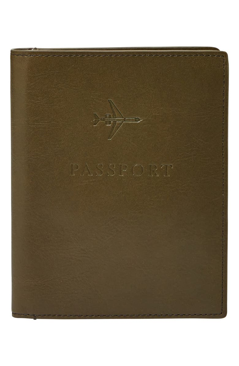 FOSSIL Passport Case, Main, color, 345