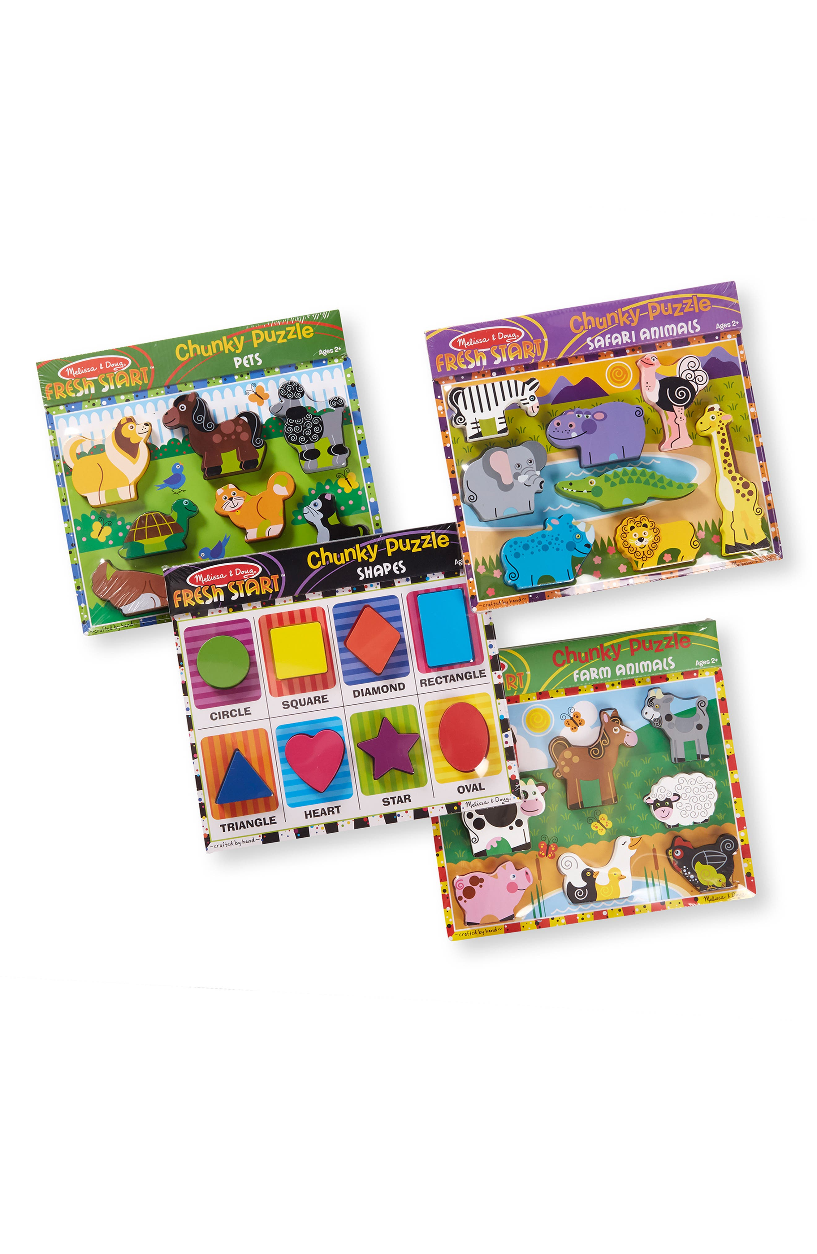Toddler Melissa  Doug 4Pack Chunky Puzzle Bundle