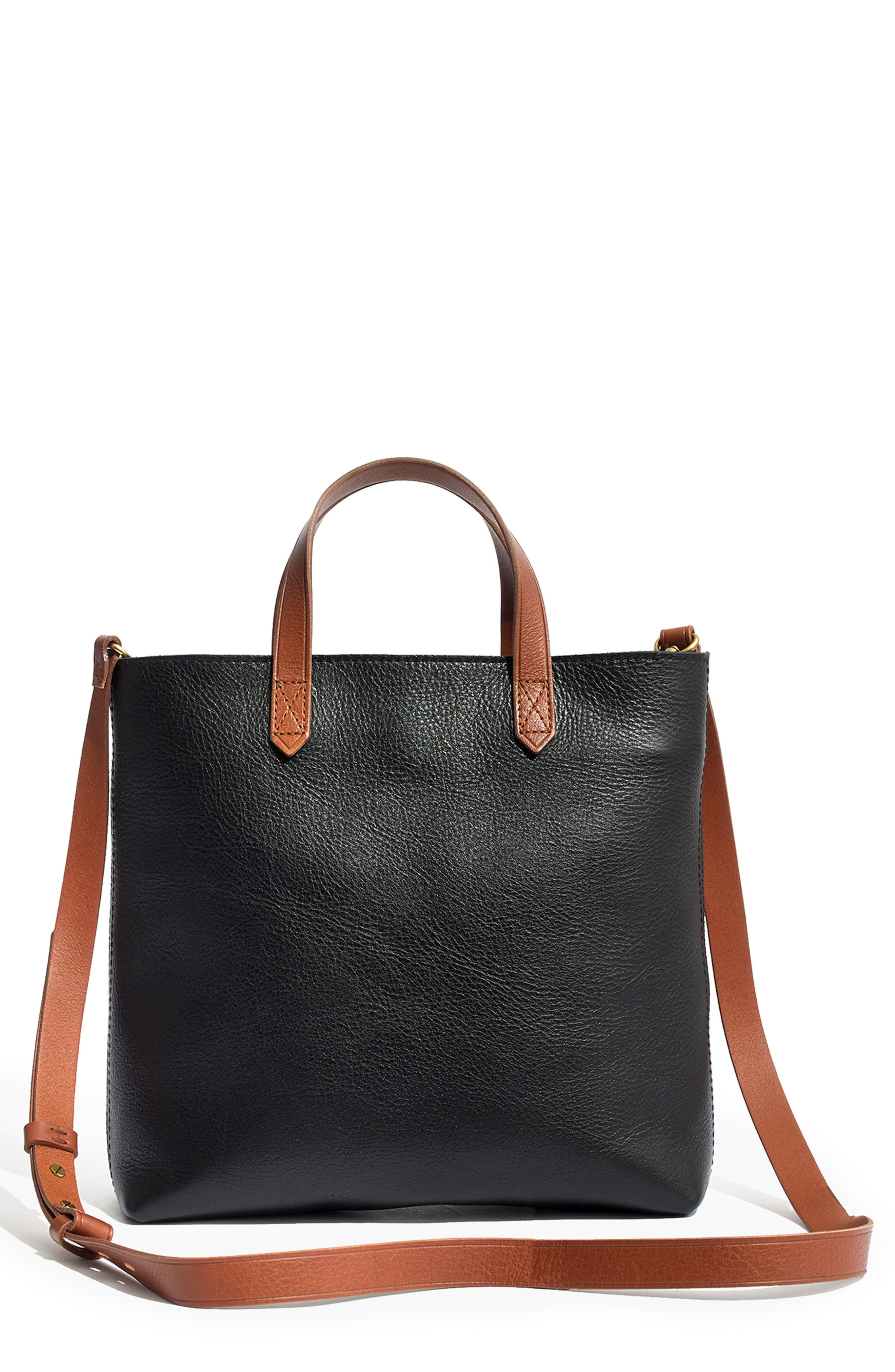 ,                             Small Transport Leather Crossbody Tote,                             Main thumbnail 19, color,                             002