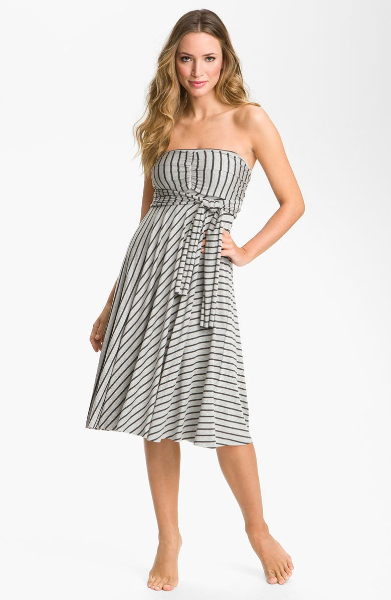 ELAN Stripe Convertible Cover-Up Dress, Main, color, 060