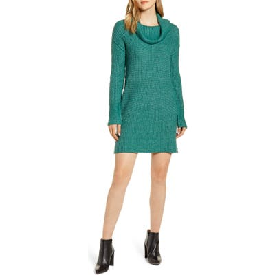 Calson Cozy Links Long Sleeve Sweater Dress, Green
