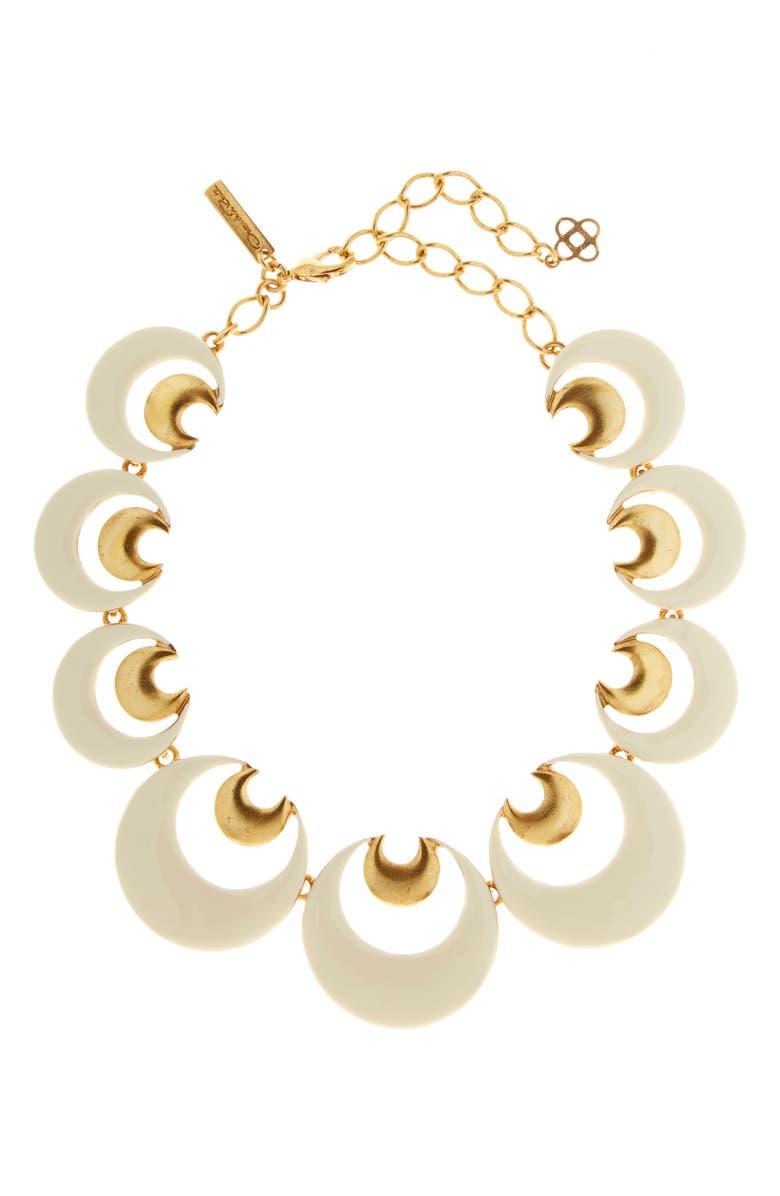 OSCAR DE LA RENTA Moon Collar Necklace, Main, color, 900