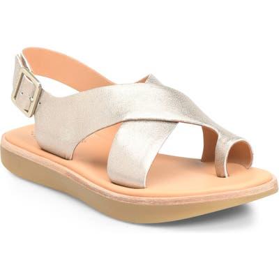 Kork-Ease Canoe Sandal, Metallic