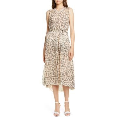 Joie Corrin High/low Silk Dress, Beige