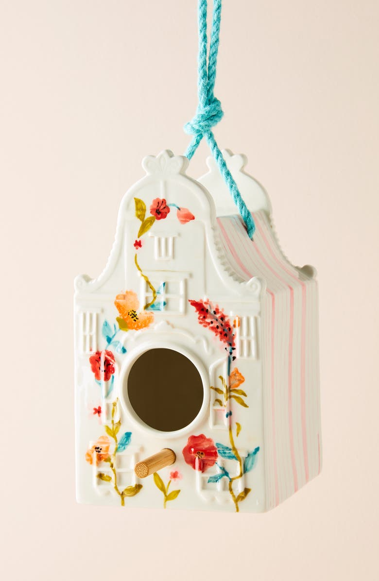 ANTHROPOLOGIE Alice Birdhouse, Main, color, PINK