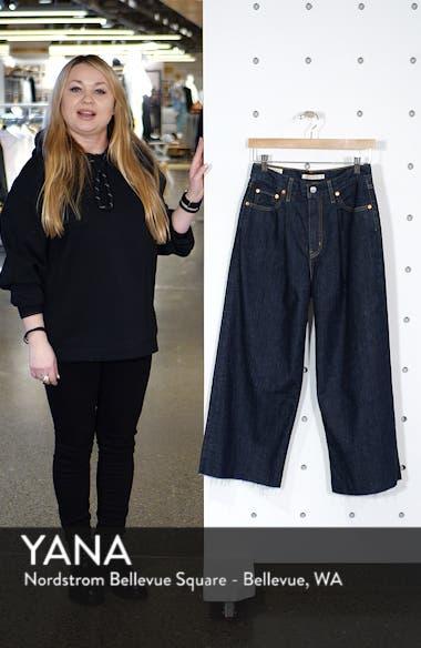 Ribcage Super High Waist Crop Wide Leg Jeans, sales video thumbnail