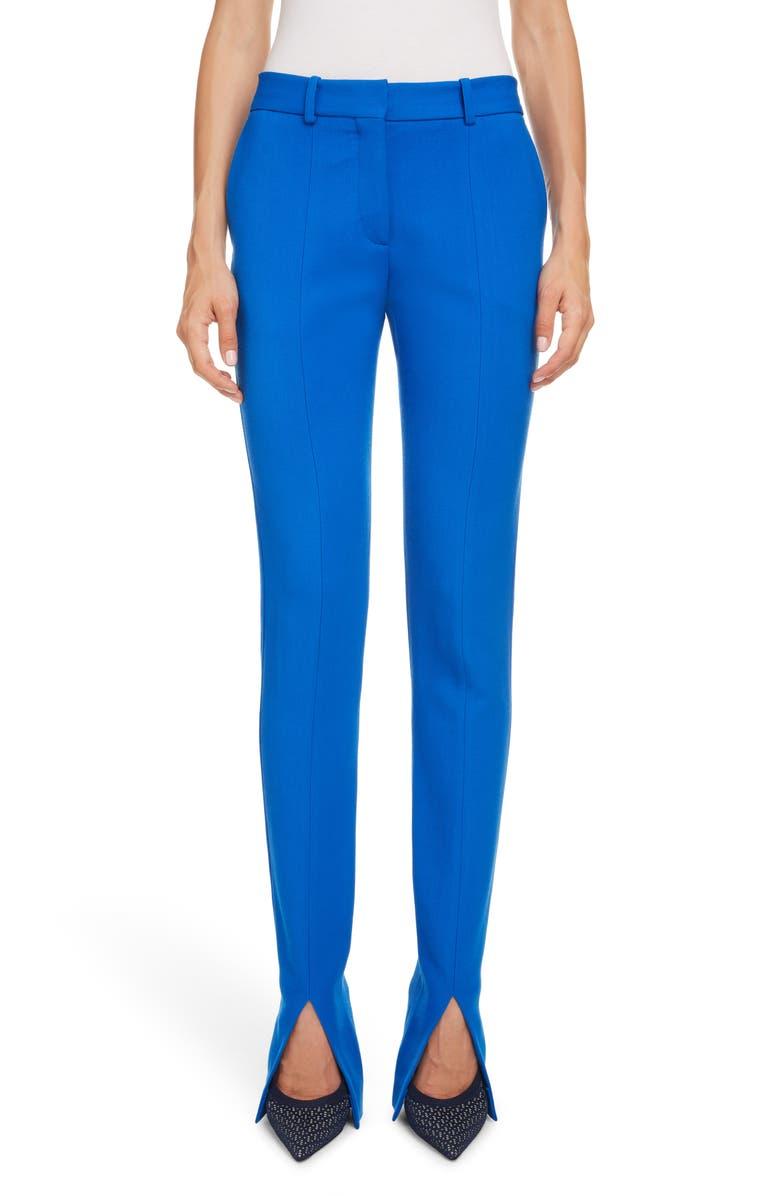 VICTORIA BECKHAM Split Cuff Skinny Pants, Main, color, COBALT