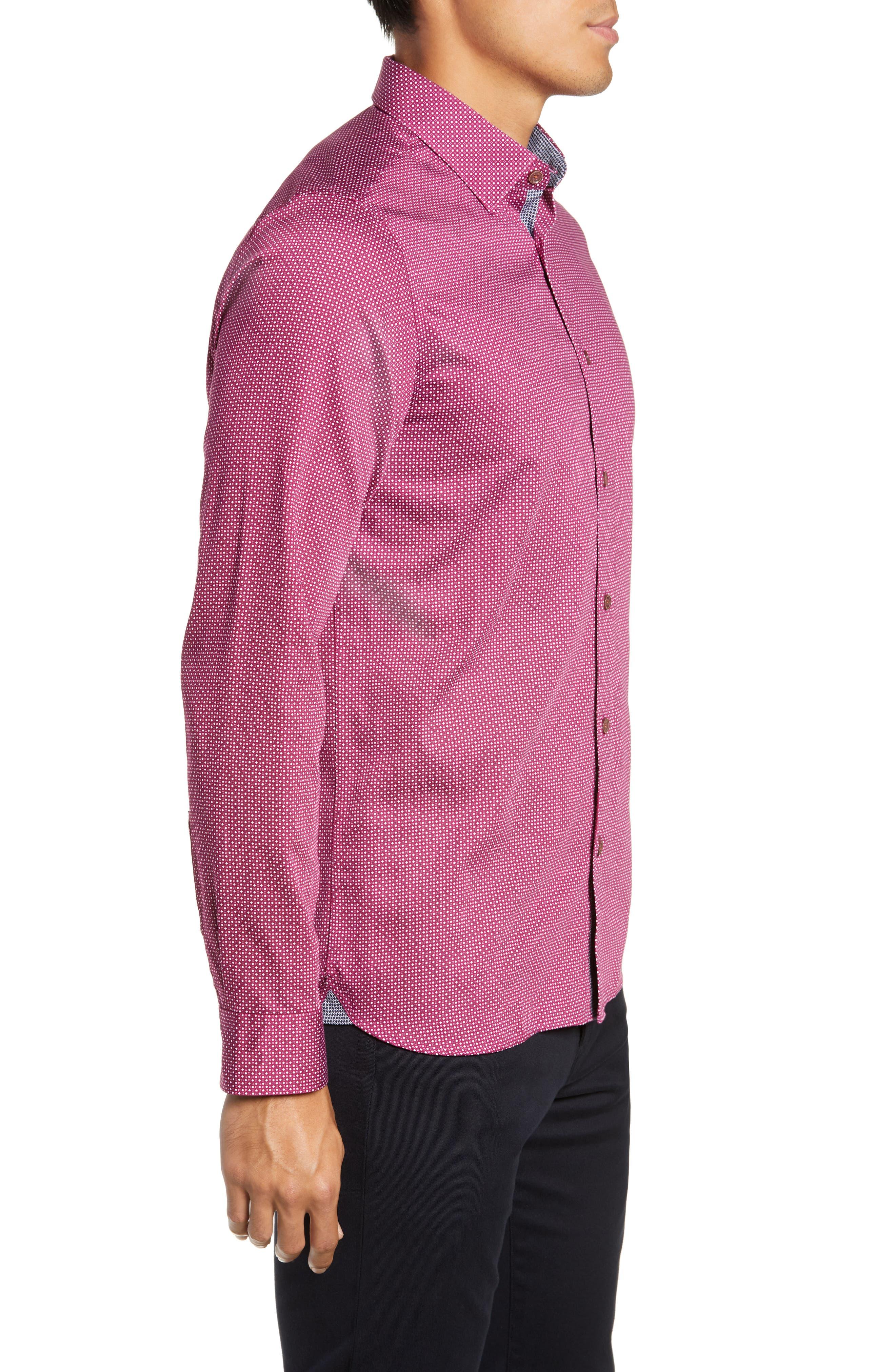 ,                             Subik Slim Fit Geo Print Sport Shirt,                             Alternate thumbnail 21, color,                             510