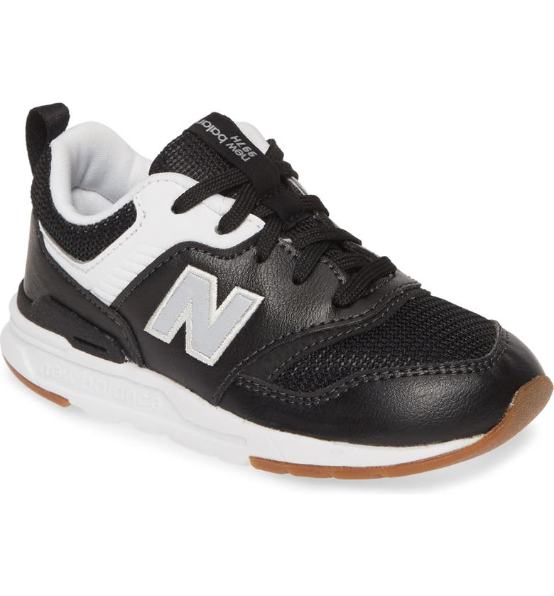 NEW BALANCE 997H Leather Sneaker, Main, color, BLACK/ SILVER