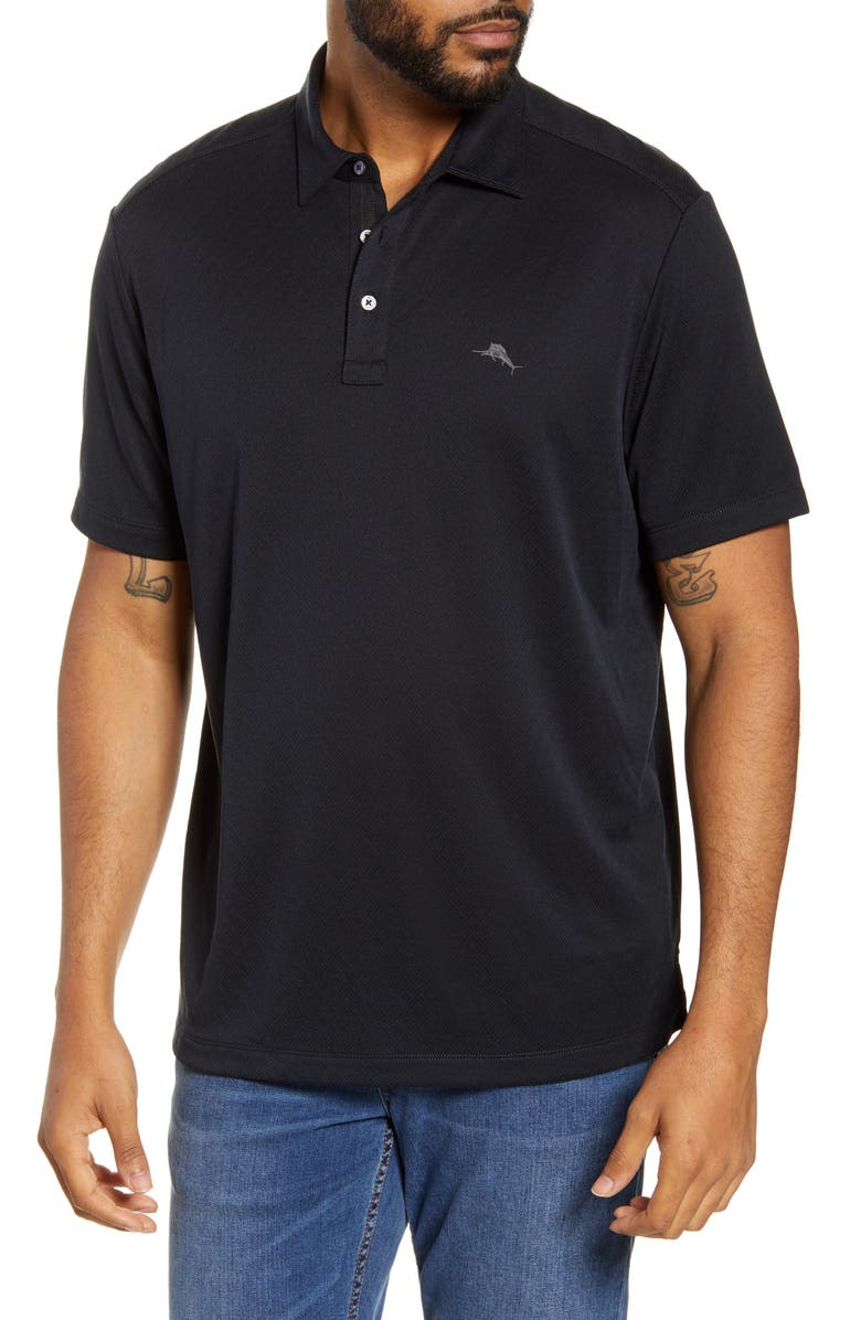 TOMMY BAHAMA Diamond La Jolla Polo, Main, color, BLACK