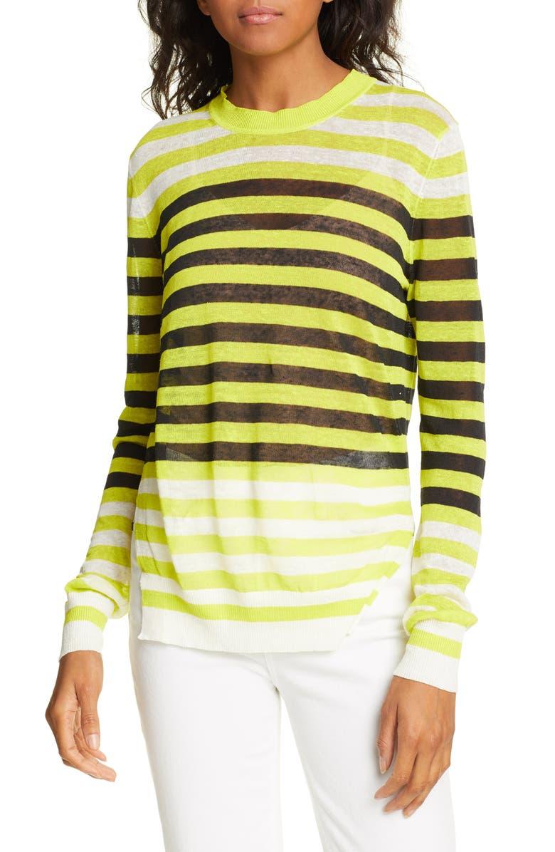 DVF Kayla Stripe Stretch Linen Sweater, Main, color, 900