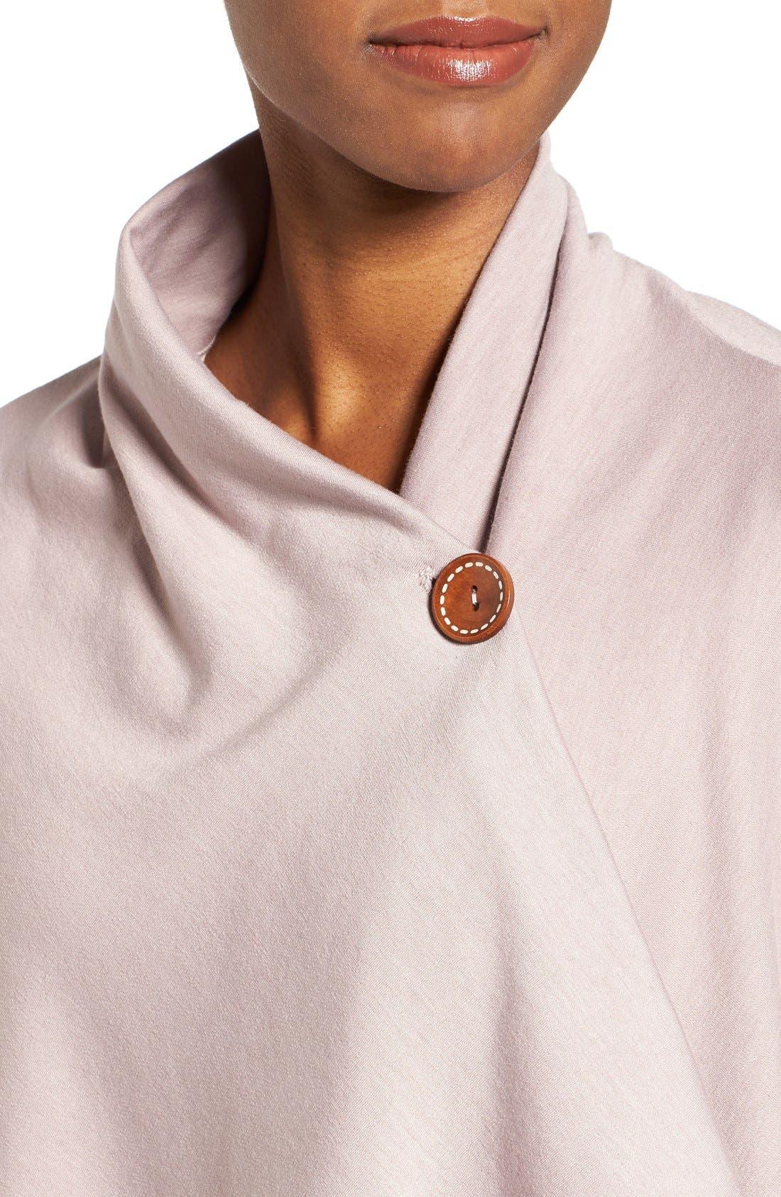 ,                             One-Button Fleece Wrap Cardigan,                             Alternate thumbnail 215, color,                             667