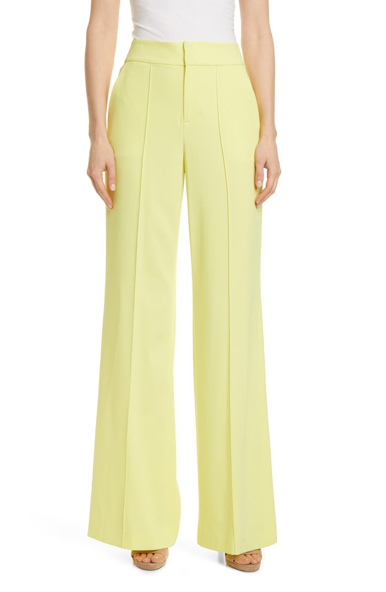 ALICE + OLIVIA Dylan High Waist Wide Leg Pants, Main, color, 735