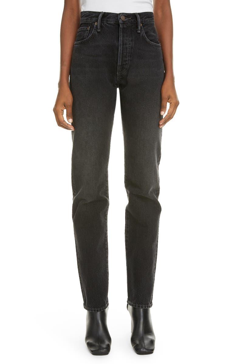 ACNE STUDIOS 1997 Straight Leg Jeans, Main, color, BLACK