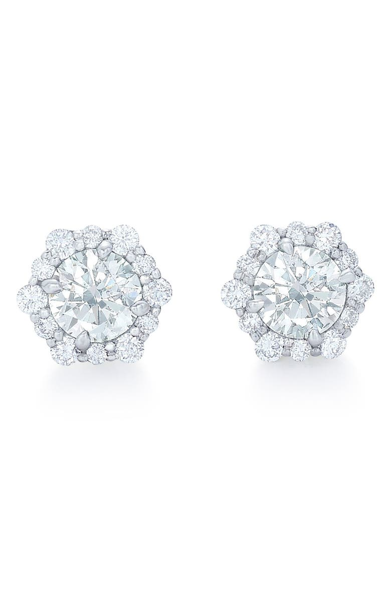 KWIAT Diamond Halo Stud Earrings, Main, color, 711