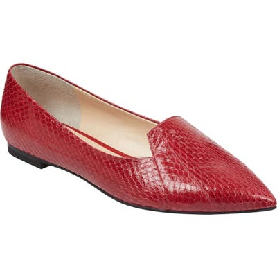 Marc Fisher Ltd Essie Pointy Toe Flat, Red