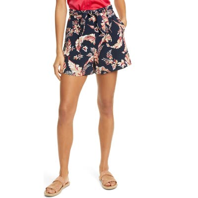 Joie Varsha Floral Tie Front Shorts, Blue