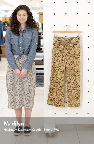 Leopard Print Tie Front Crop Flare Pants, sales video thumbnail