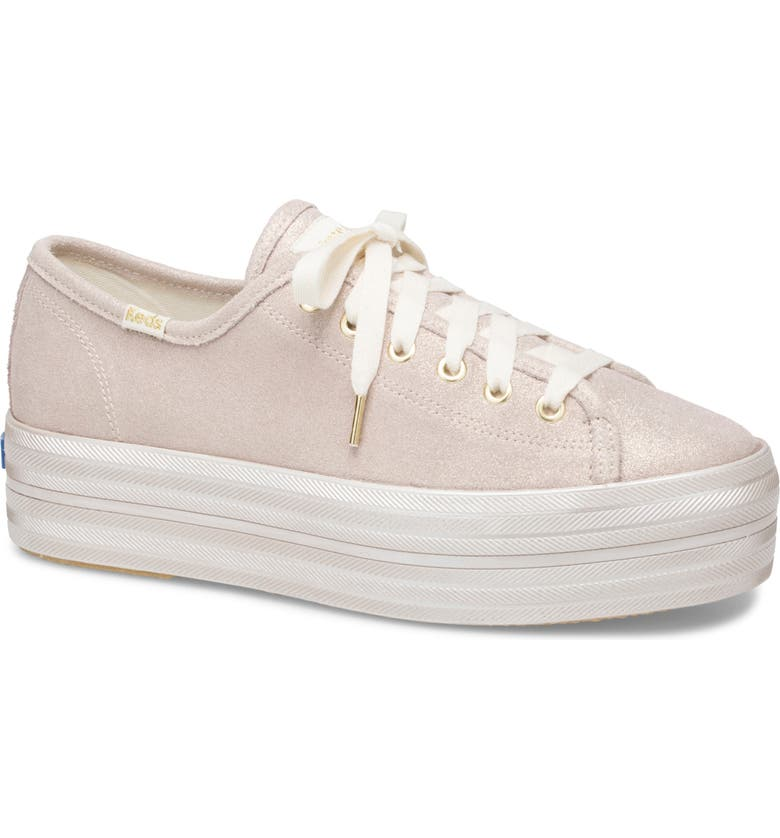 KEDS<SUP>®</SUP> FOR KATE SPADE NEW YORK Keds<sup>®</sup> x kate spade new york triple up allover glitter sneaker, Main, color, GOLD