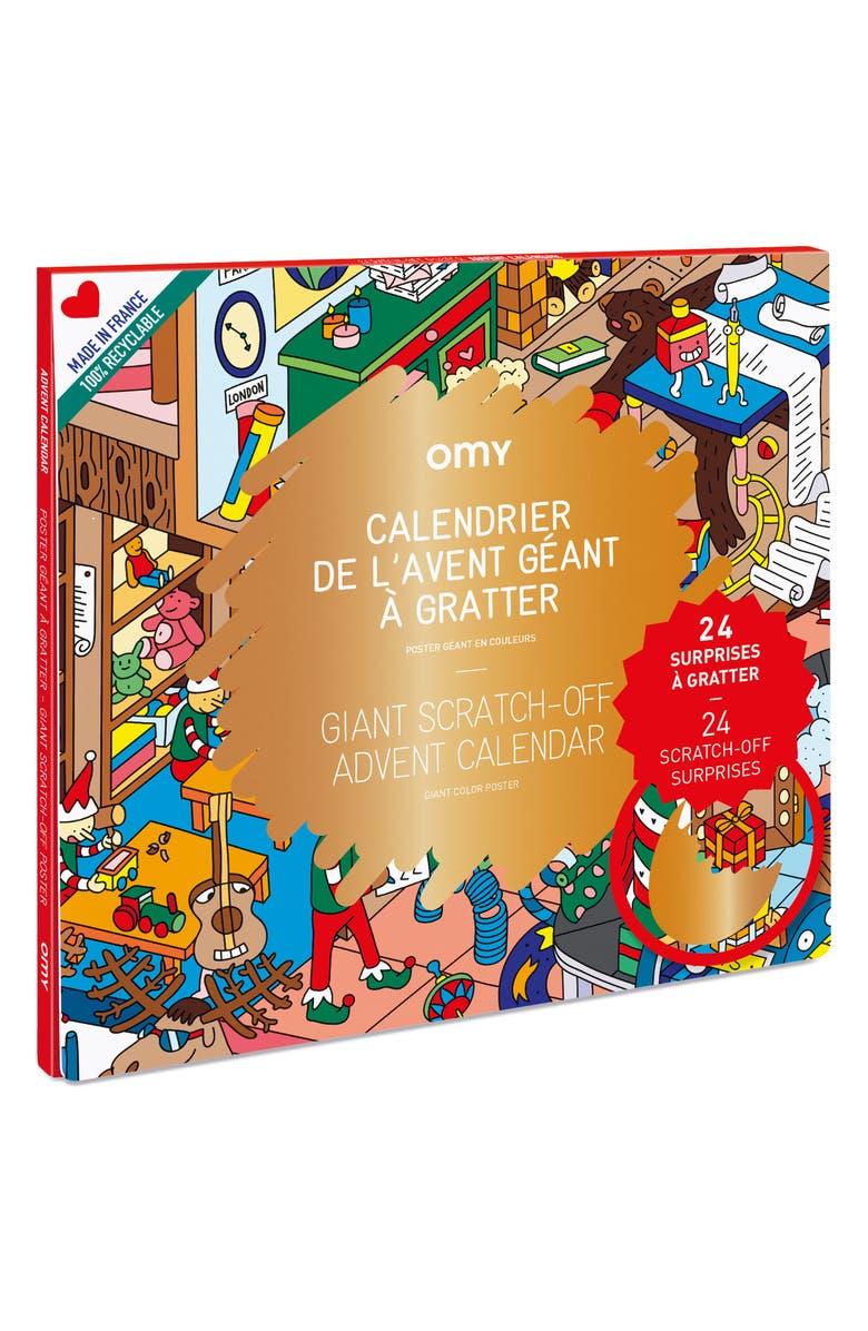 OMY Scratch-Off Advent Calendar Poster, Main, color, MULTI