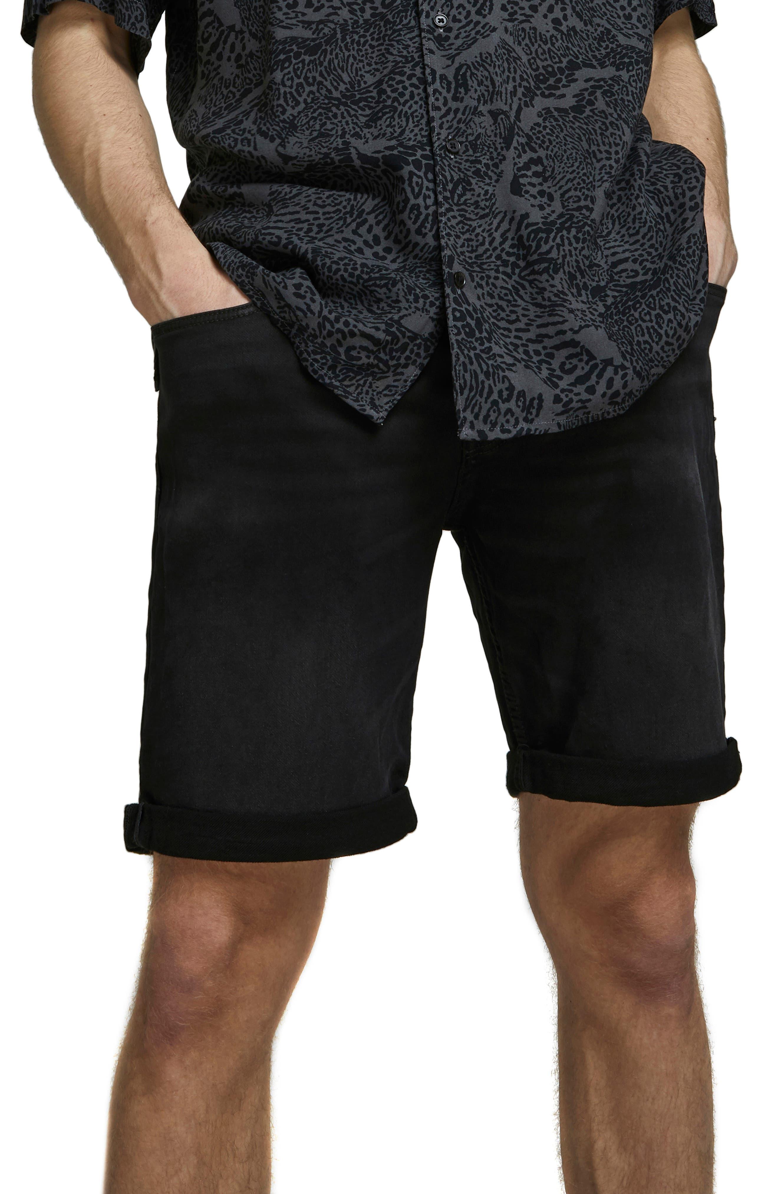 Rick Icon Ge 010 Knit Denim Shorts