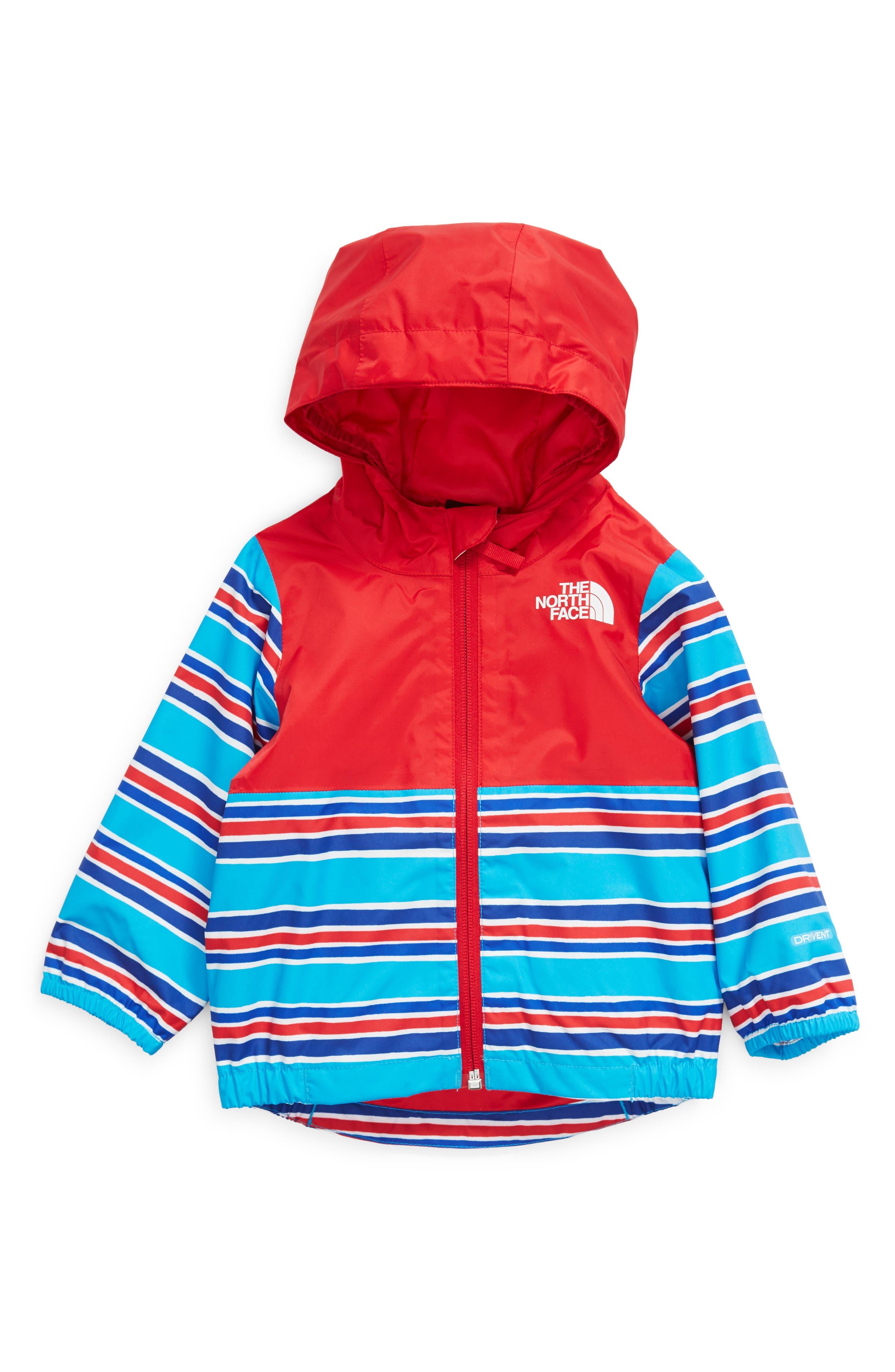 The North Face Infant Zipline Rain Jacket - 3-6M - Meridian Blue Painted Stripe Print -  NF0A53D5050