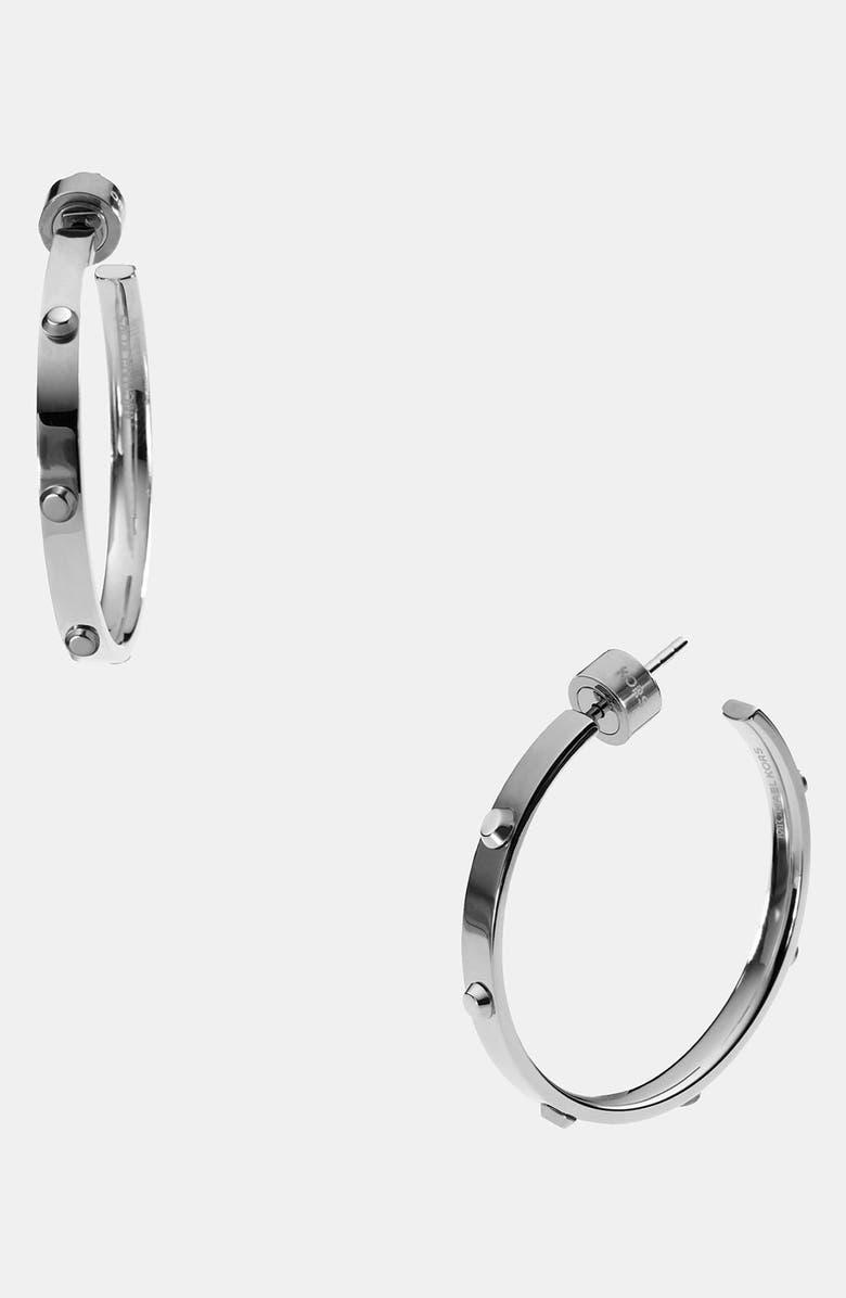 MICHAEL MICHAEL KORS Michael Kors 'Heritage - Astor' Medium Screw Hoop Earrings, Main, color, 040