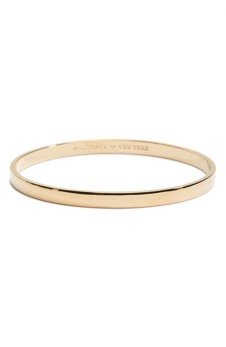 KATE SPADE NEW YORK idiom - heart of gold bangle, Main, color, GOLD