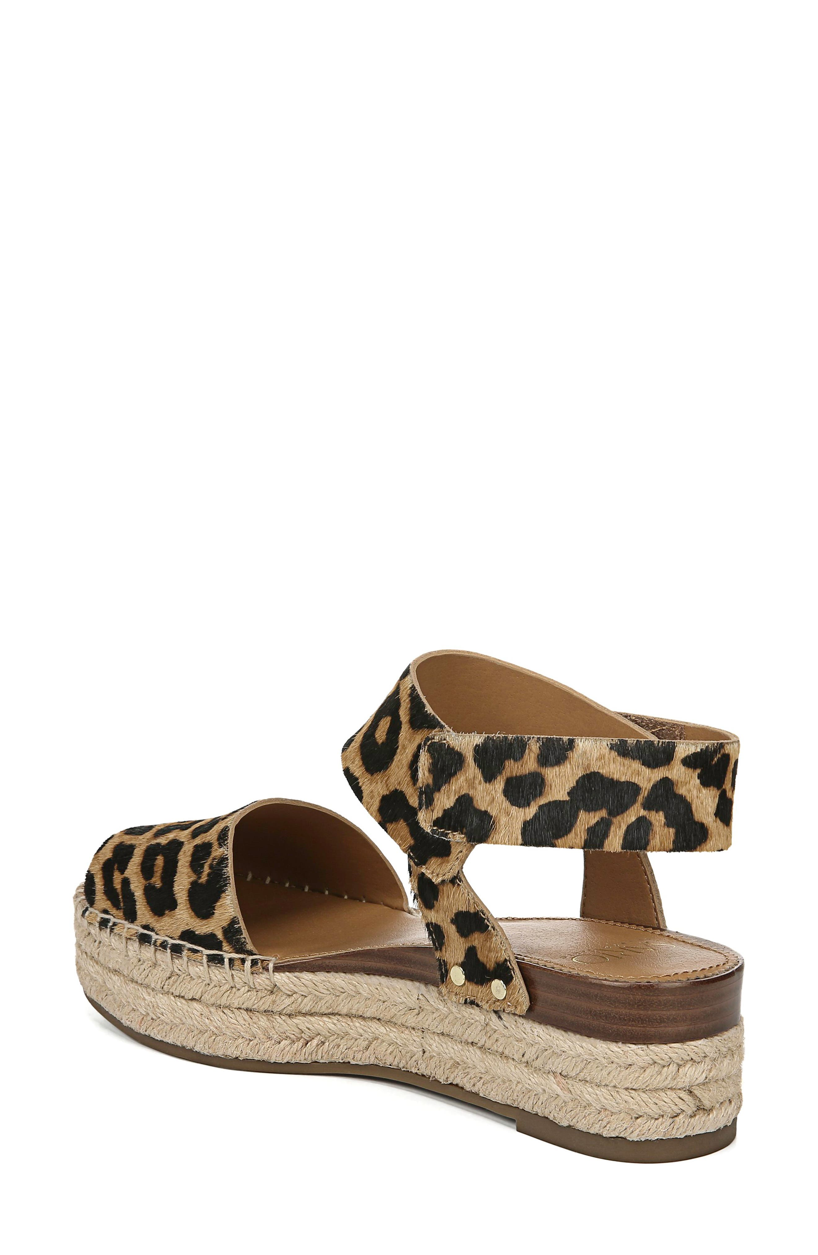 ,                             Oak Genuine Calf Hair Platform Wedge Espadrille,                             Alternate thumbnail 2, color,                             LEOPARD PRINT CALF HAIR