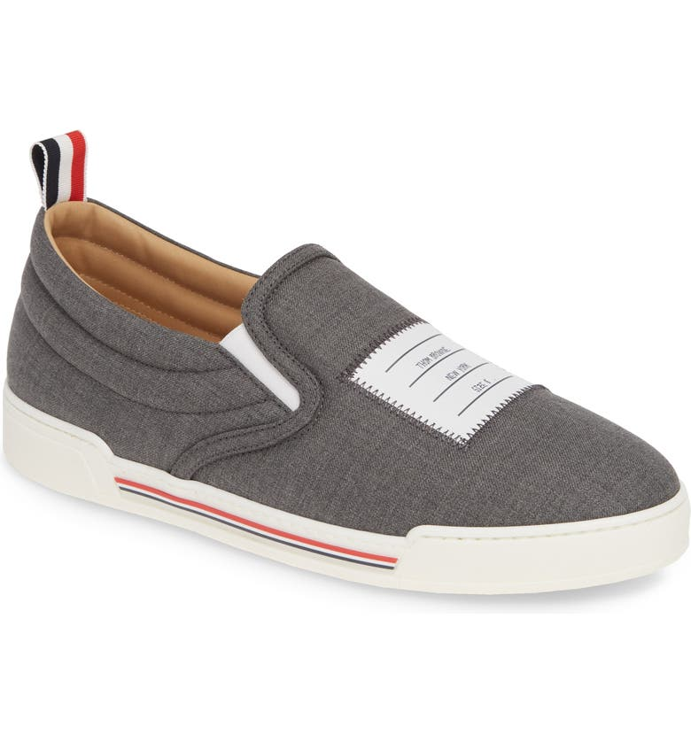 THOM BROWNE Slip-On Sneaker, Main, color, MED GREY
