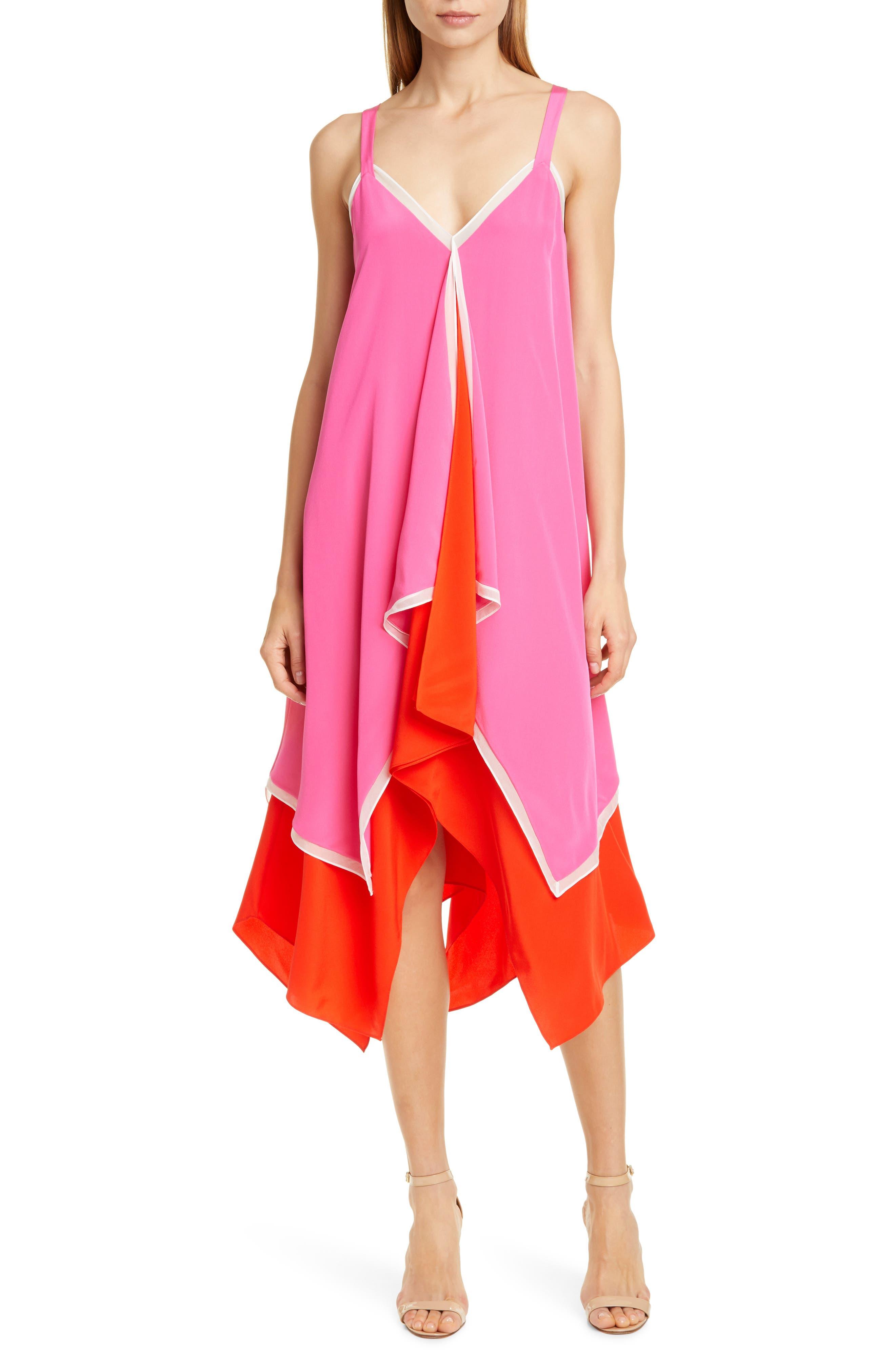 Dvf Wren Silk Dress, Pink