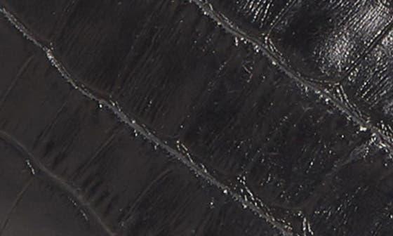 BLACK CROCODILE PRINT