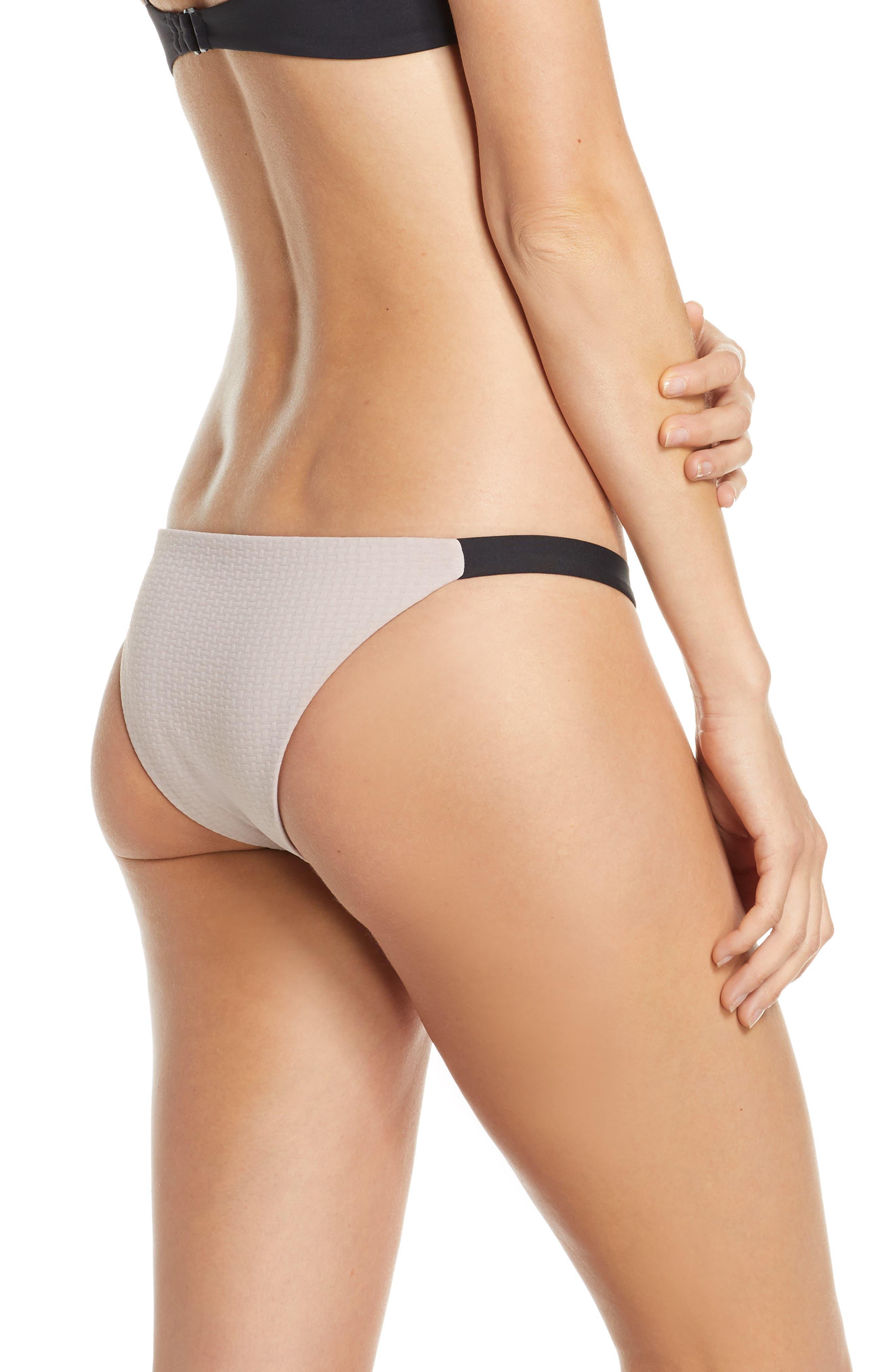 ,                             Heather Bikini Bottom,                             Alternate thumbnail 2, color,                             CLAY/ BLACK