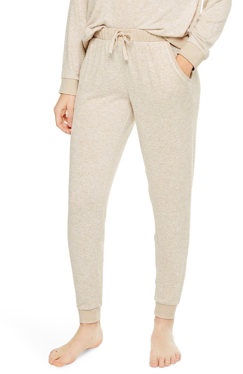 TOPSHOP Supersoft Knit Joggers, Main, color, OATMEAL