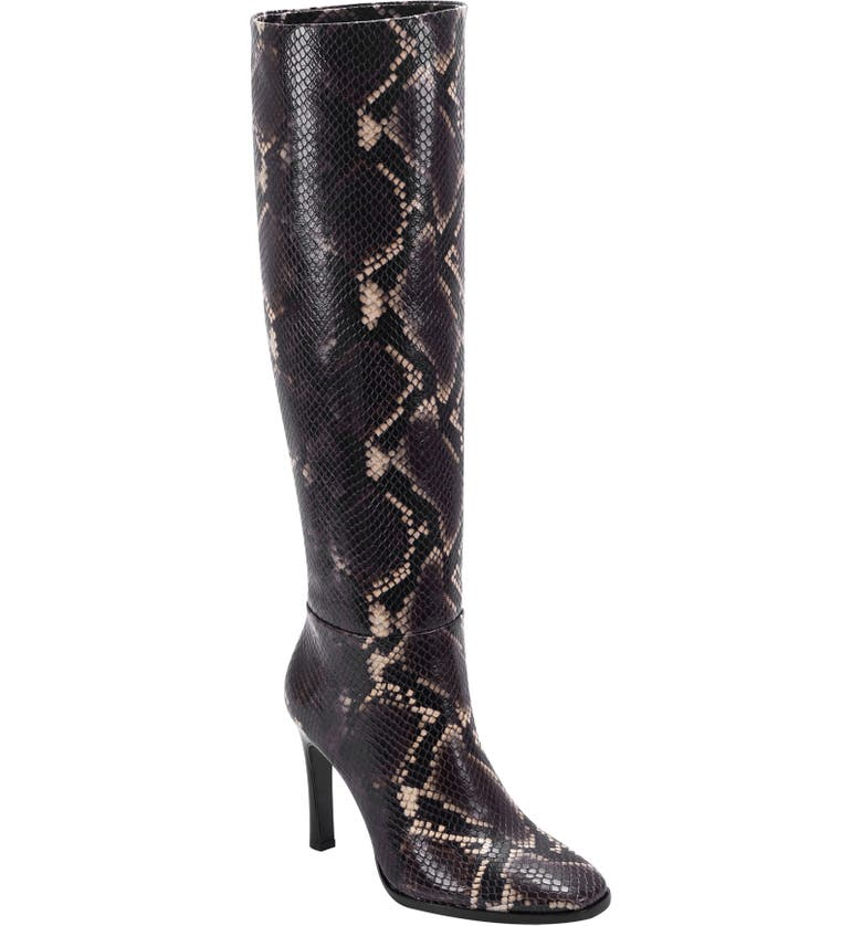SIGERSON MORRISON Kailey Snakeskin Embossed Knee High Boot, Main, color, ROVERE