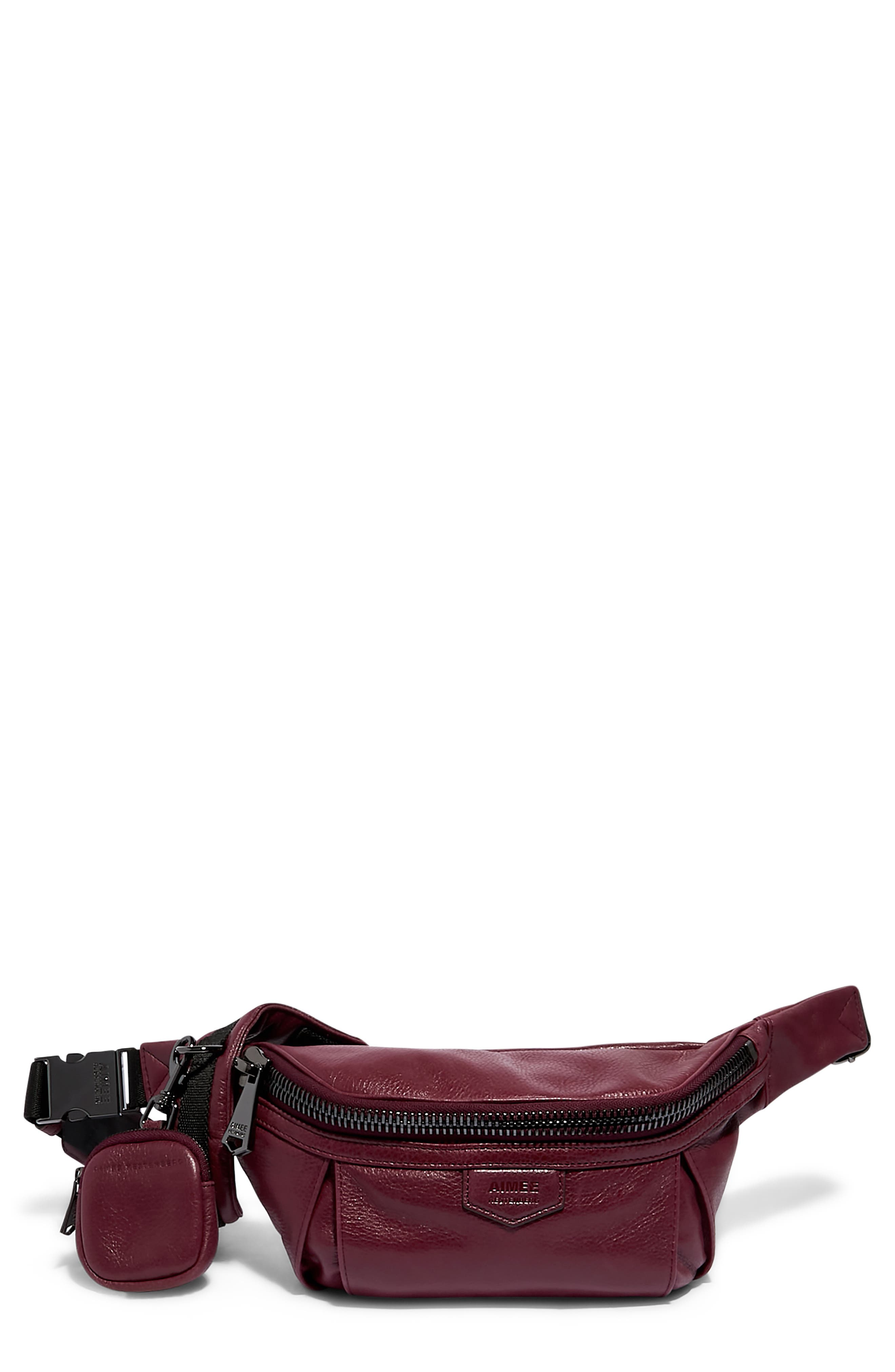 Outta Here Sling Leather Belt Bag