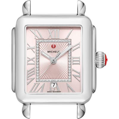 Michele Deco Madison Champagne Diamond Dial Watch Head, 3m X 35Mm