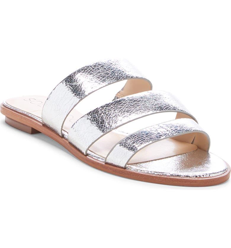 SOLE SOCIETY Simonaa Genuine Calf Hair Slide Sandal, Main, color, 040