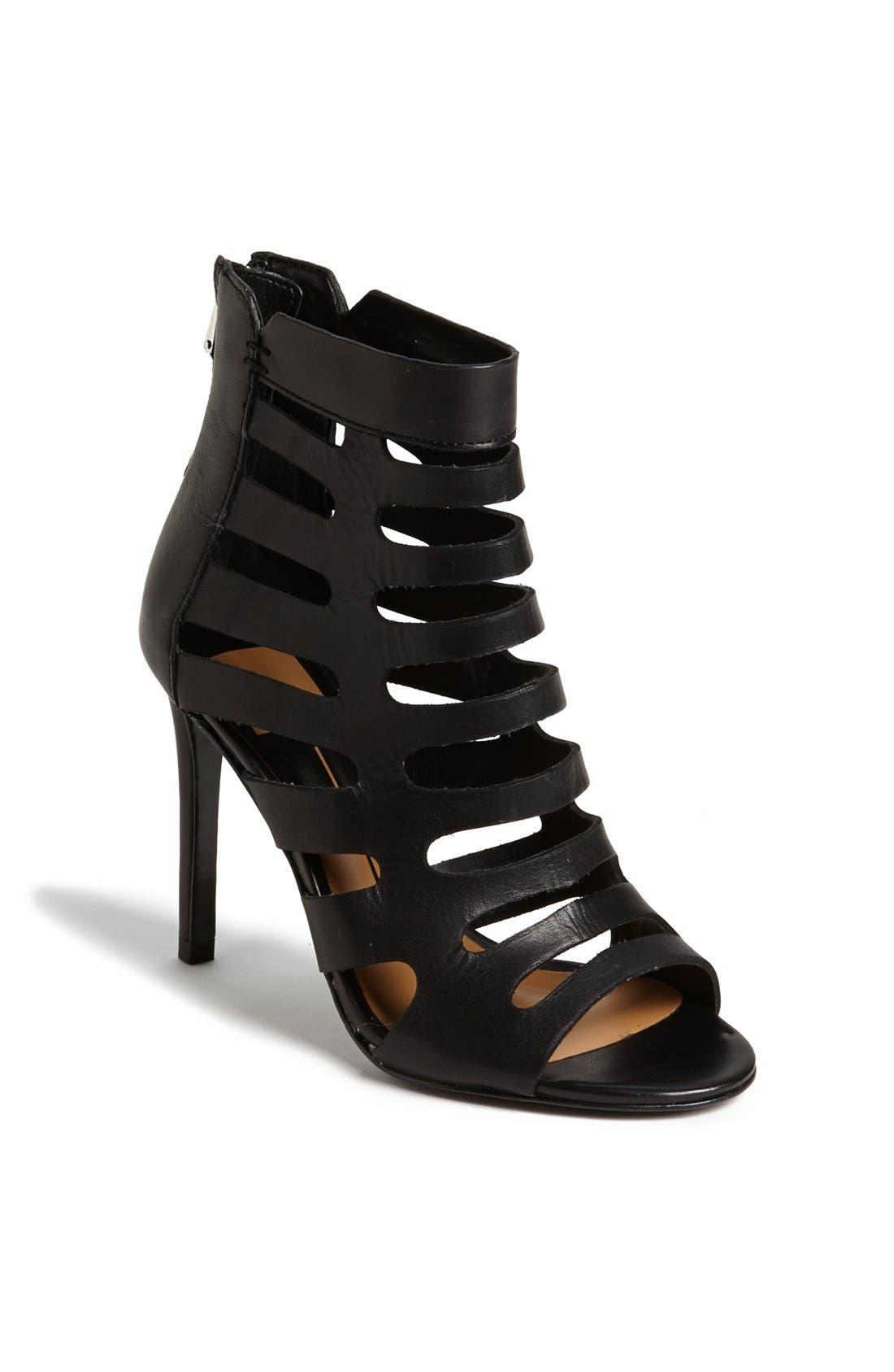 'Hettie' Leather Sandal, Main, color, 001