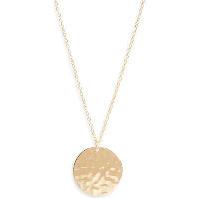Argento Vivo Hammered Pendant Necklace