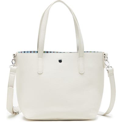 Sole Society Mini Zeda Faux Leather Tote - Ivory