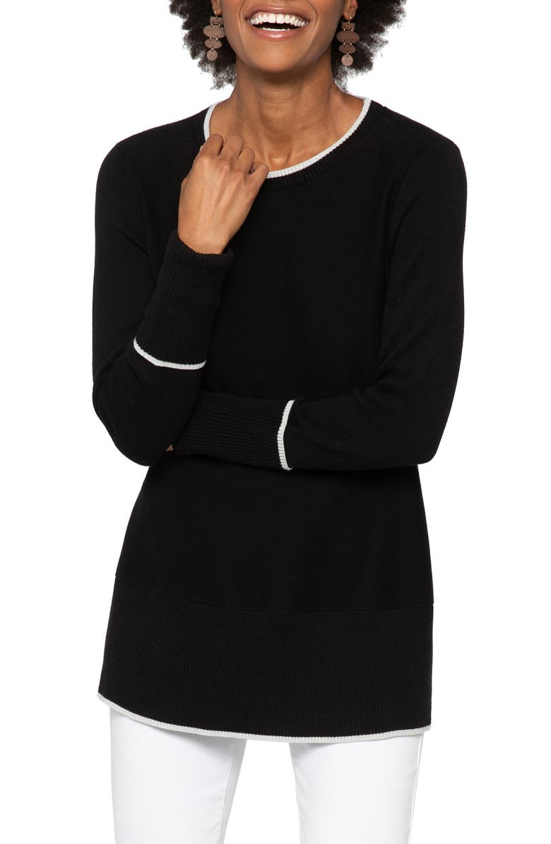 NIC+ZOE Full Swing Sweater, Main, color, BLACK ONYX