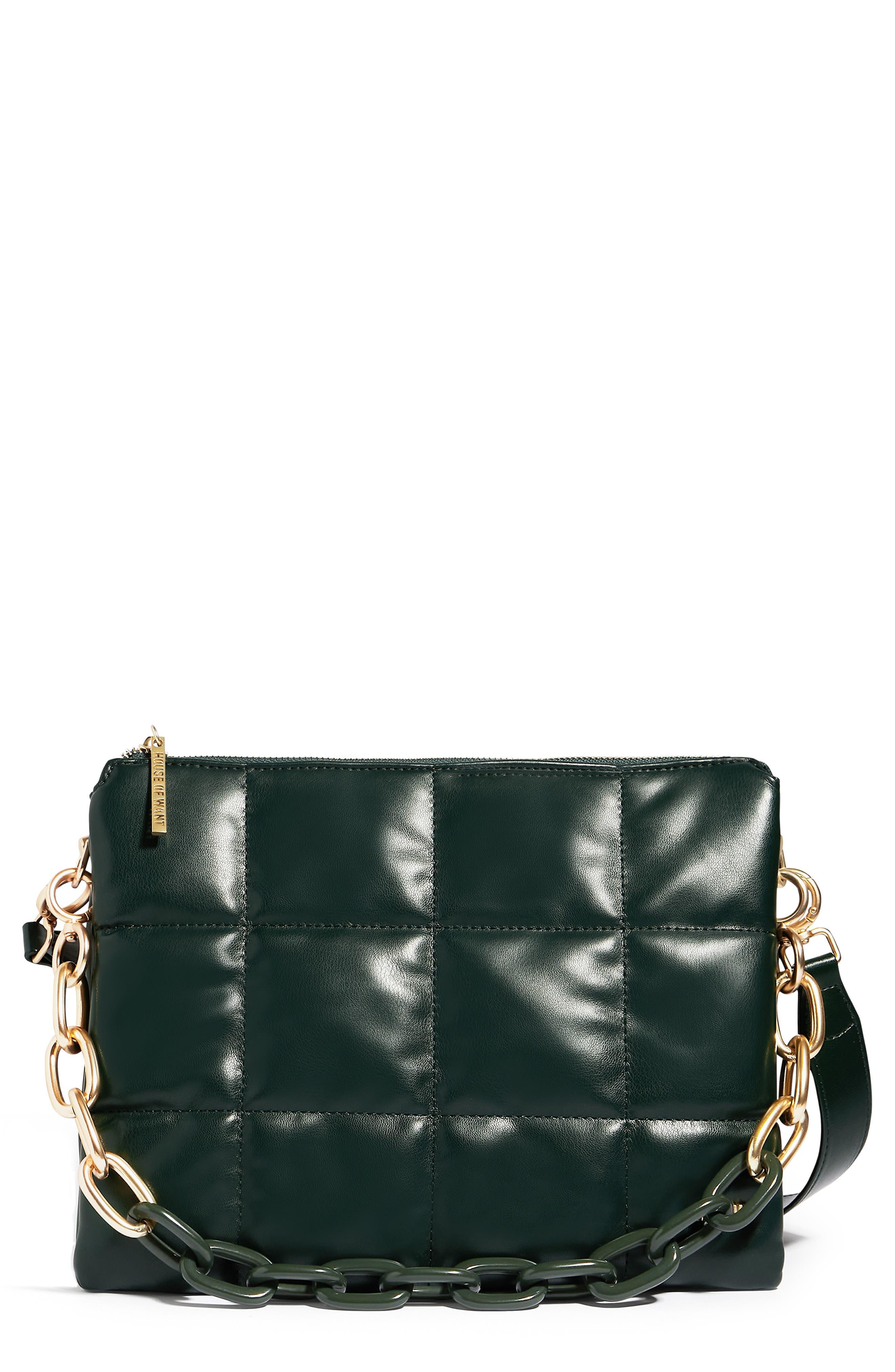 H.o.w. We Class-Ify Vegan Leather Shoulder Bag
