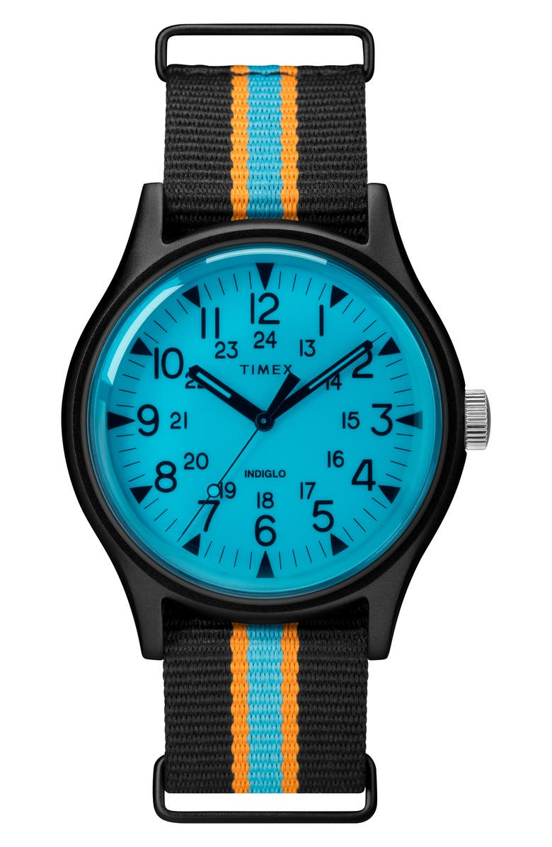 TIMEX<SUP>®</SUP> MK1 Nylon Strap Watch, 40mm, Main, color, 001