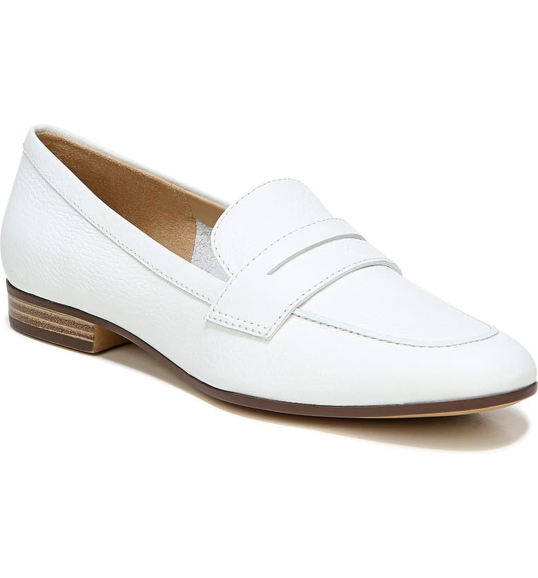 NATURALIZER Juliette Loafer, Main, color, WHITE LEATHER