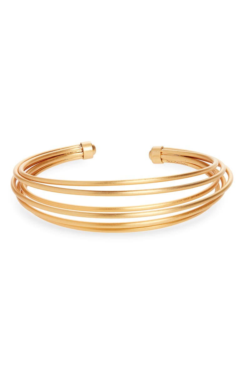 DEAN DAVIDSON Savannah Cuff Bracelet, Main, color, GOLD